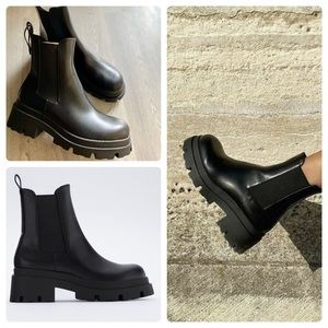 Zara boots with truck soles